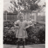 Gerdi in the garden as kid